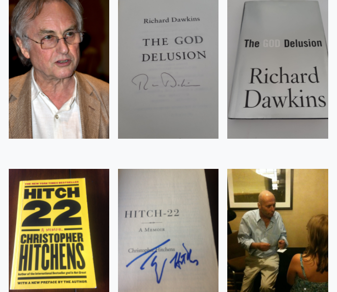 Autographed Dawkins and Hitchens book lottery